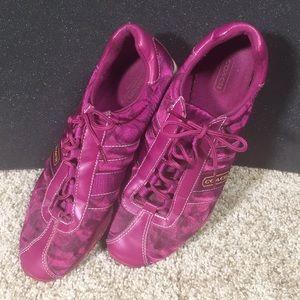 Coach Purple Kirby Tennis Shoes